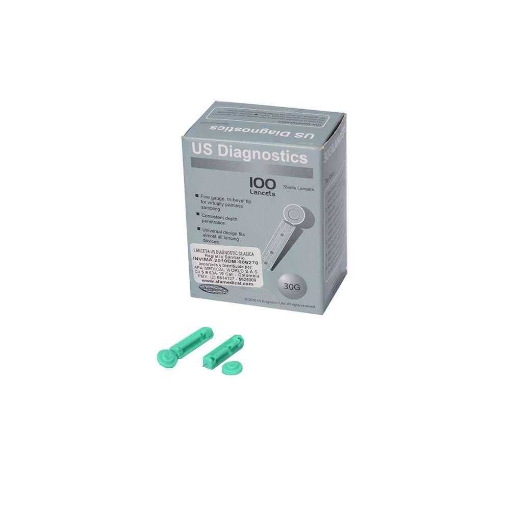 Lancetas para glucómetro, US Diagnostics